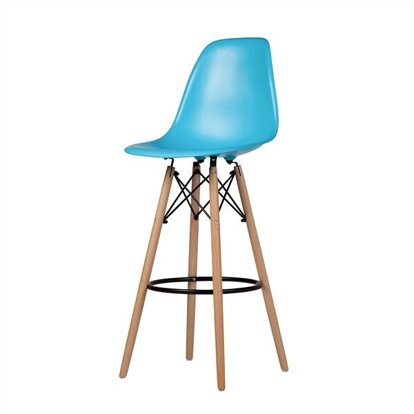 Charles Eames Style DSW Bar Stool In Blue Mid Century  : s l1000 from www.ebay.com size 1000 x 1000 jpeg 34kB
