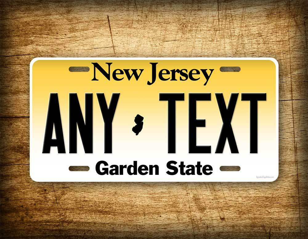 Personalized New Jersey License Plate Custom State Auto