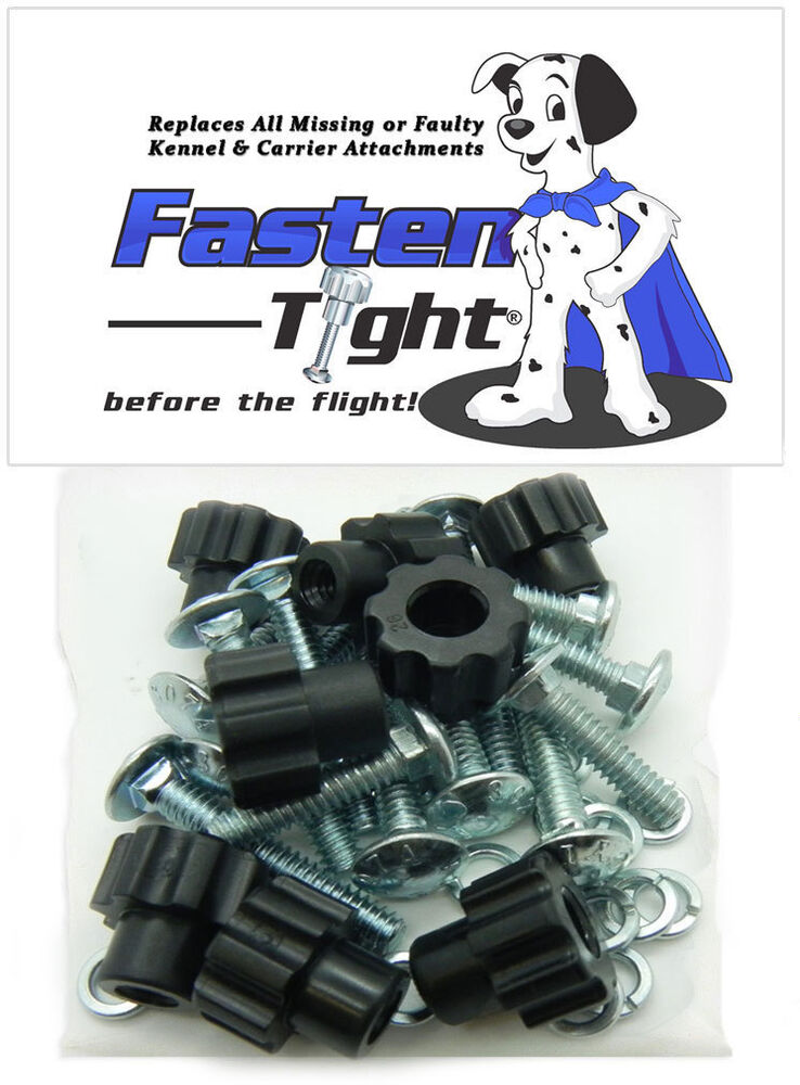 Dog Travel Crate >> Pet Carrier / Kennel Replacement Nut Bolt Fasteners - Black-8pk | eBay