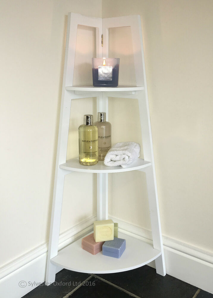 corner shelving units bathroom corner shelving unit white vintage shabby chic 13997