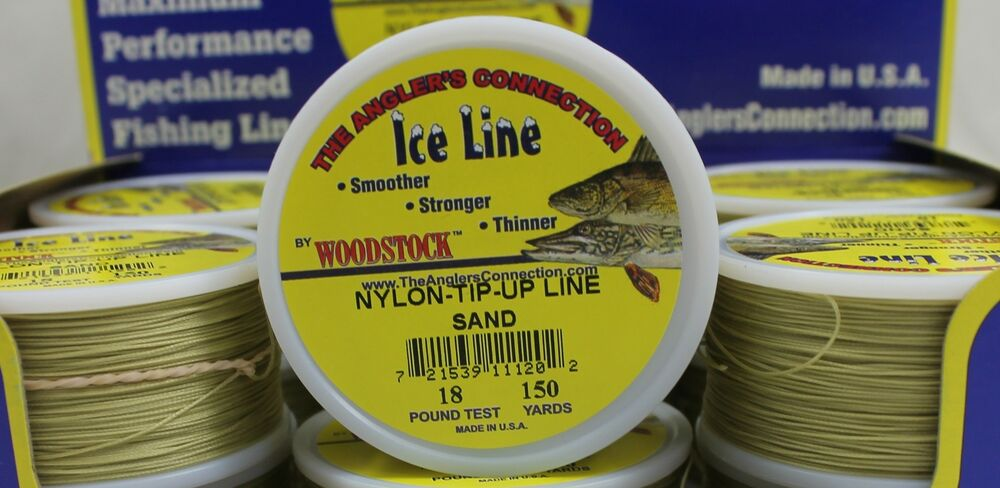 Woodstock ice fishing tip up line 18 test 150yd spool for Ice fishing tip up line