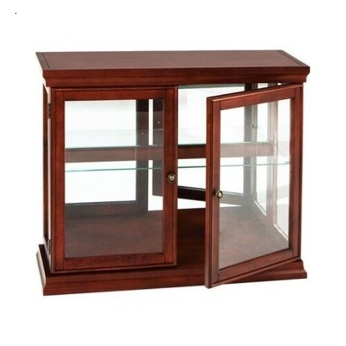 Curio Cabinet Display Glass Storage Shelf Shelves Decor