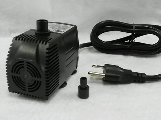 Small submersible fountain aquarium hydroponic pump w for Small fountain filter