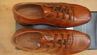 new MEN'S BROWN Synthetic+Leather lace up shoes size 41 UK 7 MODERN DESIGN