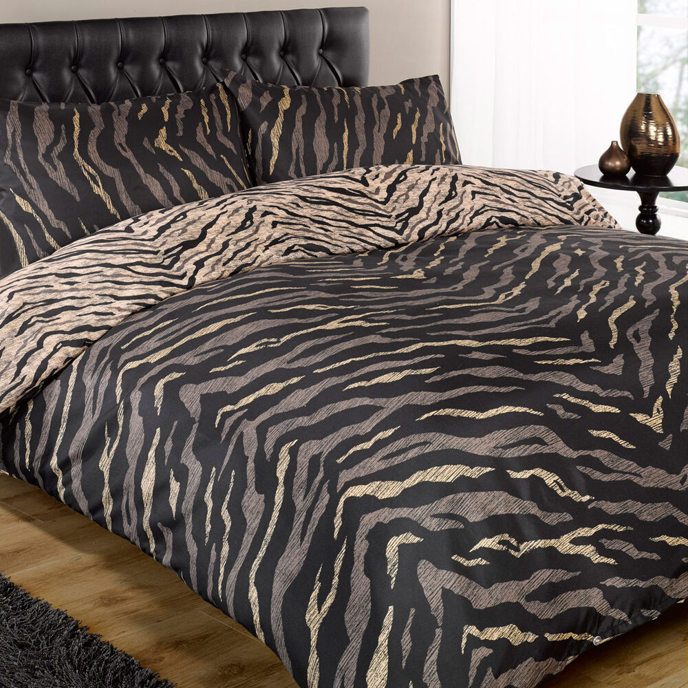 The tiger print is one of the most classic designs for bedding, but there's no reason to limit yourself to the standard orange and brown you see on the nature shows.