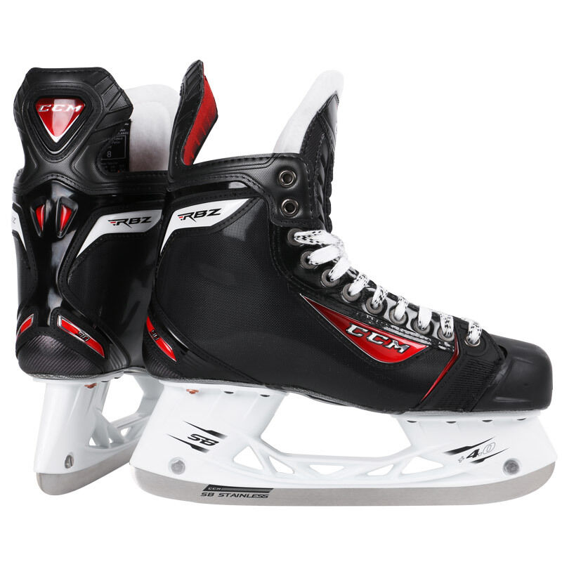 new in box ccm rbz 90 ice hockey skates sz men 39 s us 11d mens sr size black skate ebay. Black Bedroom Furniture Sets. Home Design Ideas