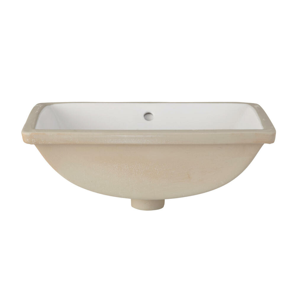 bathroom sinks undermount rectangular signature hardware overton rectangular porcelain 16647