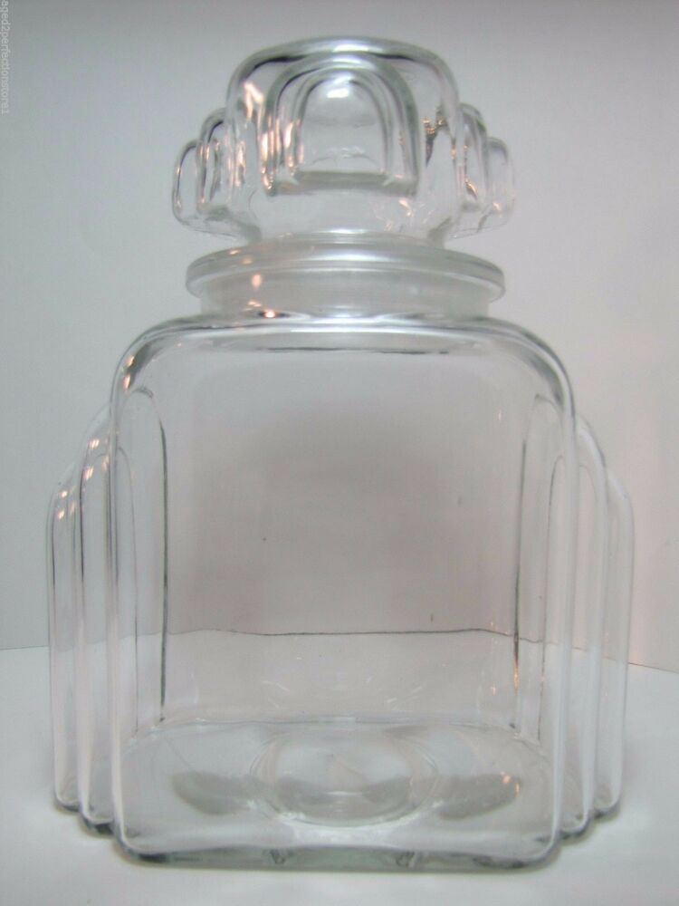 Antique Art Deco Apothecary Candy Jar Drug Store Pharmacy
