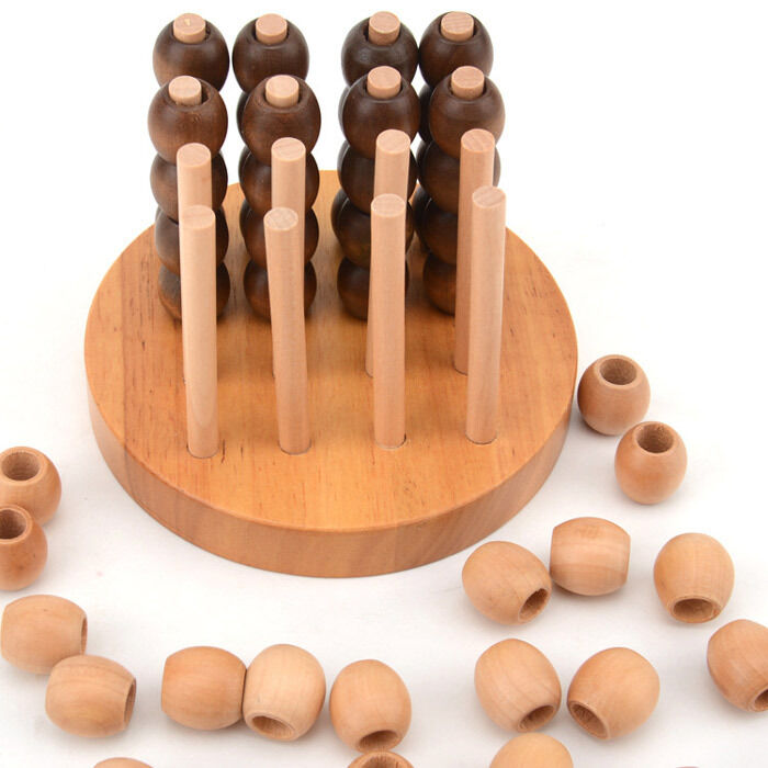connect four 3d line up 4 in a line row bingo strategy game wood puzzle toy 10cm ebay. Black Bedroom Furniture Sets. Home Design Ideas