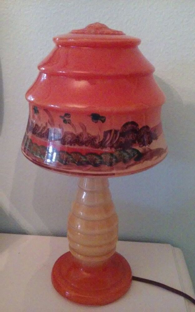 Rare Mint Condition Vintage Hand Painted Hawaiian Glass
