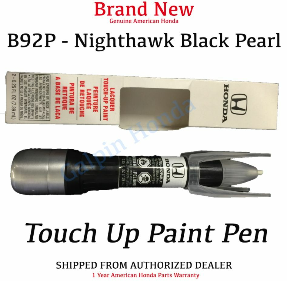 genuine oem honda touch up paint pen b92p nighthawk black pearl ebay. Black Bedroom Furniture Sets. Home Design Ideas