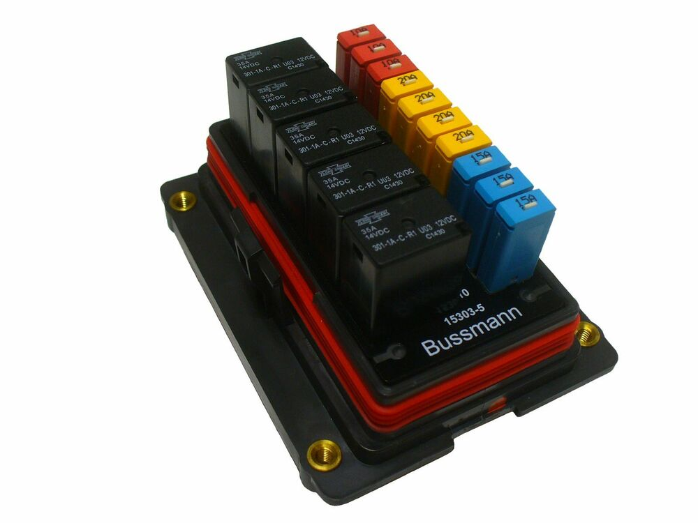 Fuse And Relay Box For Automotive : Bussmann waterproof fuse relay panel box car truck atv utv
