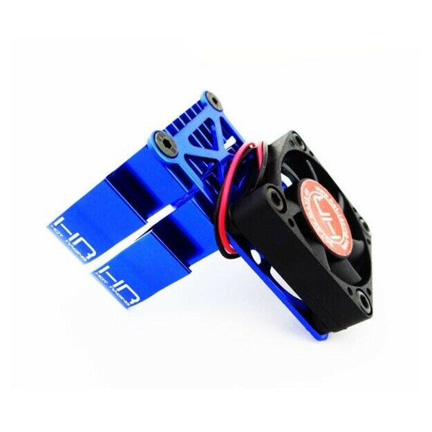 hot racing mh550te06 blue multi mount fan cool 2pc heat sink traxxas 2wd slash ebay