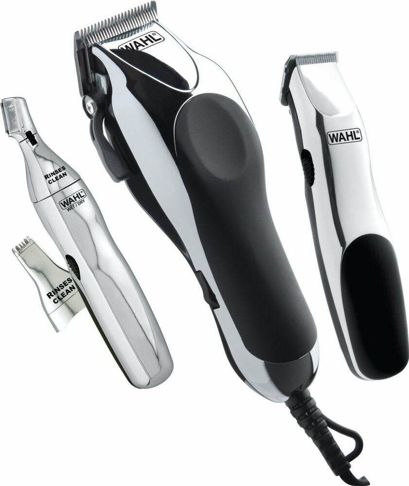 professional barber set wahl home haircut kit trimmer beard salon scissor com. Black Bedroom Furniture Sets. Home Design Ideas