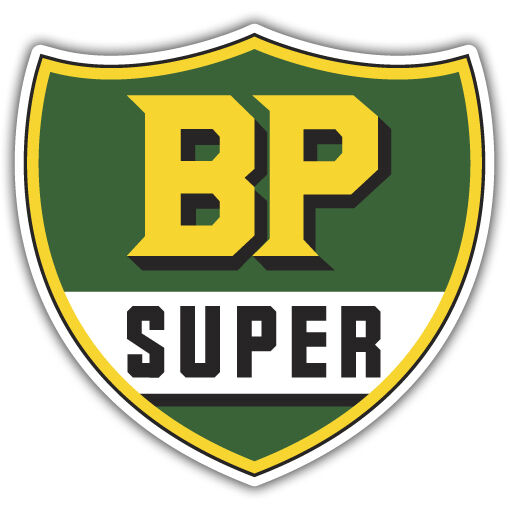 bp super sticker vintage reproduction decal retro 250mm x