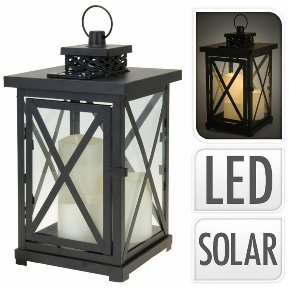 victorian style solar powered garden lantern lamp led mood. Black Bedroom Furniture Sets. Home Design Ideas