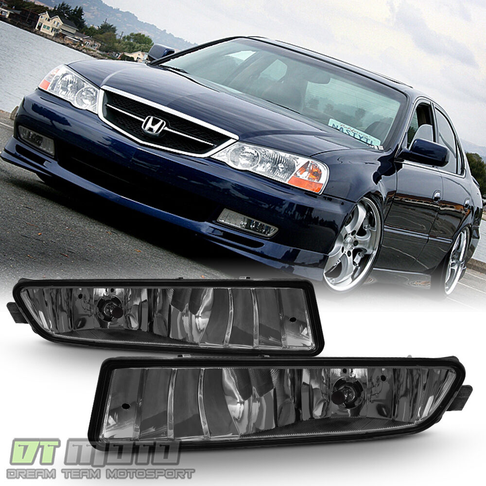Smoked 02-03 Acura TL Bumper Driving Replacement Fog