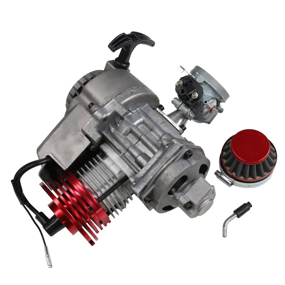 new 2 stroke racing engine motor 49cc 47cc 50cc pocket quad dirt bike pull start ebay. Black Bedroom Furniture Sets. Home Design Ideas