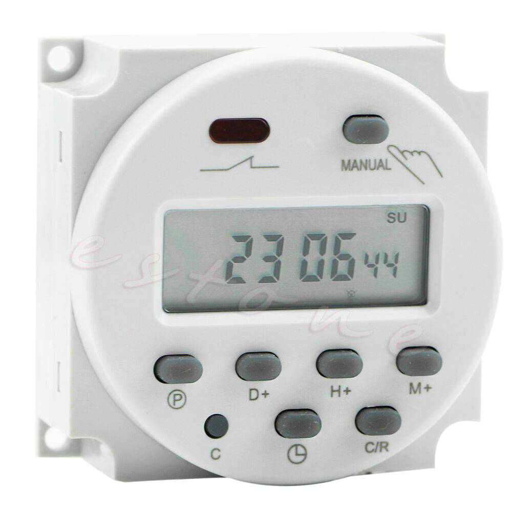 Digital Power Timer : New ac v a lcd display digital power programmable