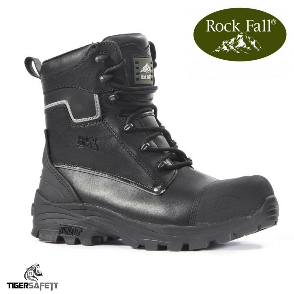Tuffking 9108 S3 Black Water Resistant Steel Toe High Leg Safety Boots Work Boot