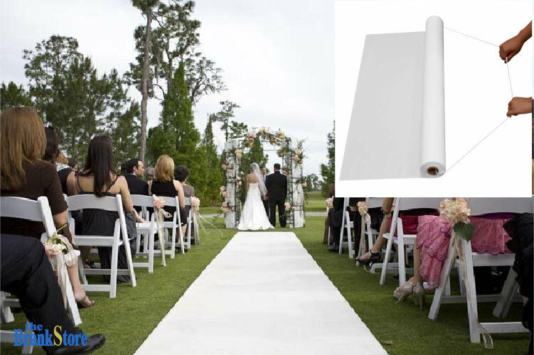 White Wedding Aisle Runner Ceremony Decoration Marriage