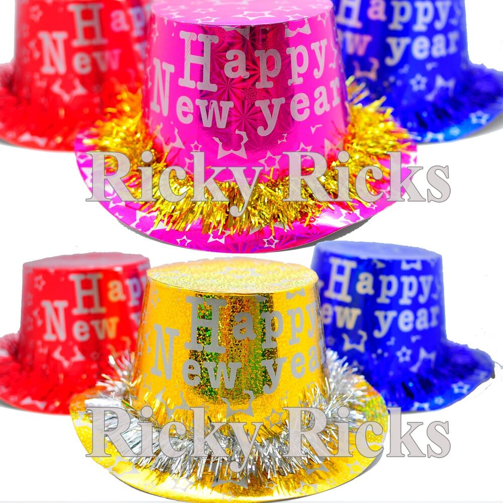 12 pack new years hats party supplies decorations decor happy new year eve 2018 ebay. Black Bedroom Furniture Sets. Home Design Ideas