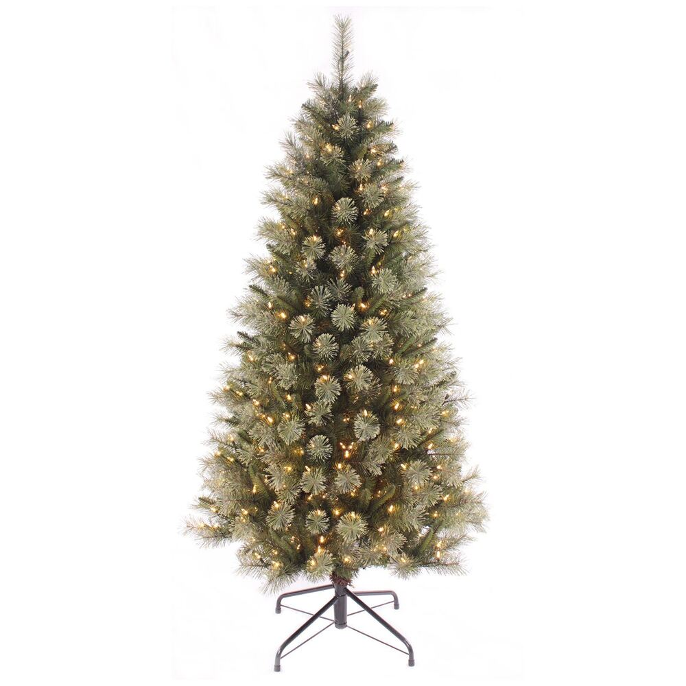 Green Pine Artificial Pre-lit Warm White Fairy LED Lights