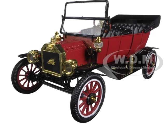 1915 Ford Model T Roadster Convertible Red 1 18 Car By