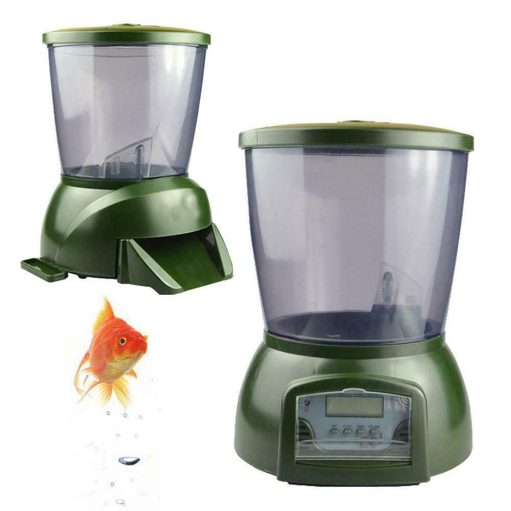 Automatic pond fish feeder digital tank pond fish for Fish food dispenser