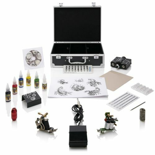 Tattoo machine gun kit professional beginners starter home for Tattoo supplies ebay