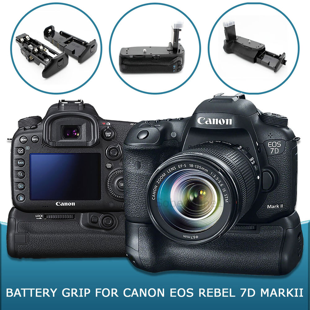 Battery Grip For Canon Eos 7d Mark Ii Bg E16 Dslr Camera Ebay