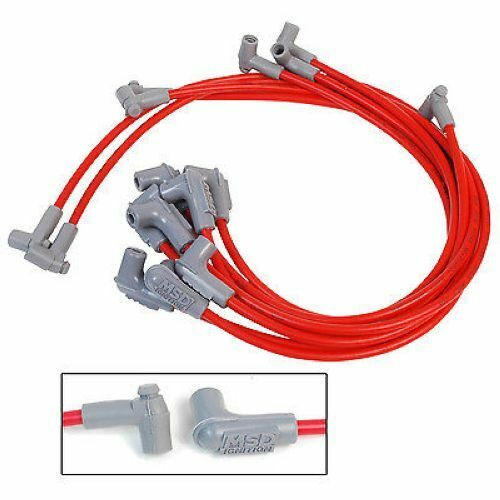 MSD Ignition 31359 SC Spark Plug Wire Set, SBC 350 HEI