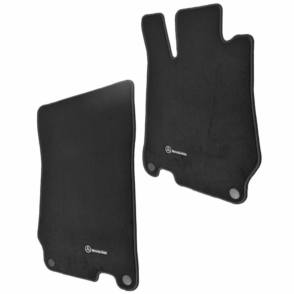 Oem floor mat pair kit set of 2 lh rh sides black carpet for Mercedes benz sl550 floor mats