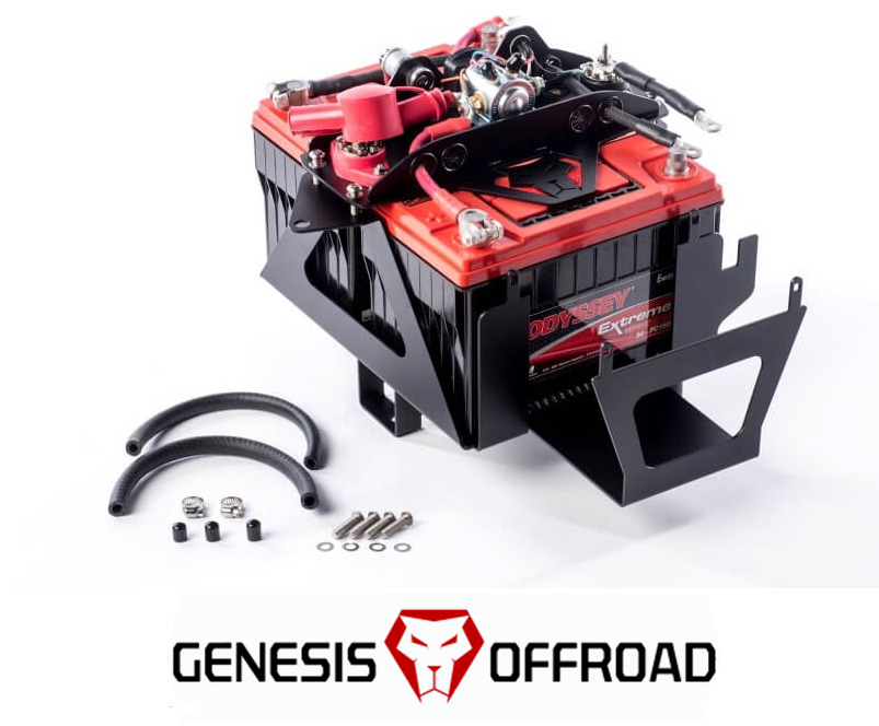genesis offroad dual battery kit w 200 amp isolator 2007. Black Bedroom Furniture Sets. Home Design Ideas