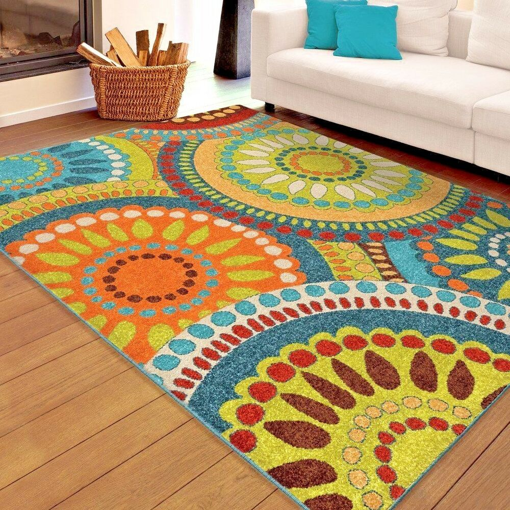 Throw Rugs Ebay: RUGS AREA RUGS 8x10 RUG CARPETS MODERN LARGE COLORFUL BIG