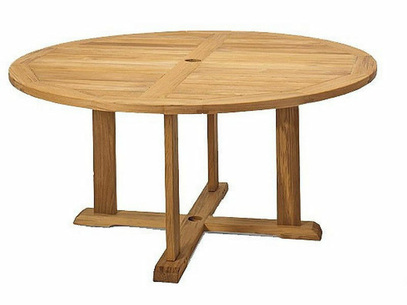 60 ROUND TABLE A GRADE TEAK WOOD GARDEN OUTDOOR DINING FURNITURE POOL