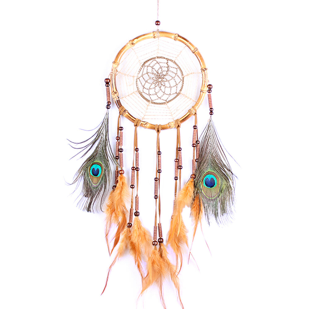 Handmade Dream Catcher With Feathers Wall Hanging Decoration Ornament