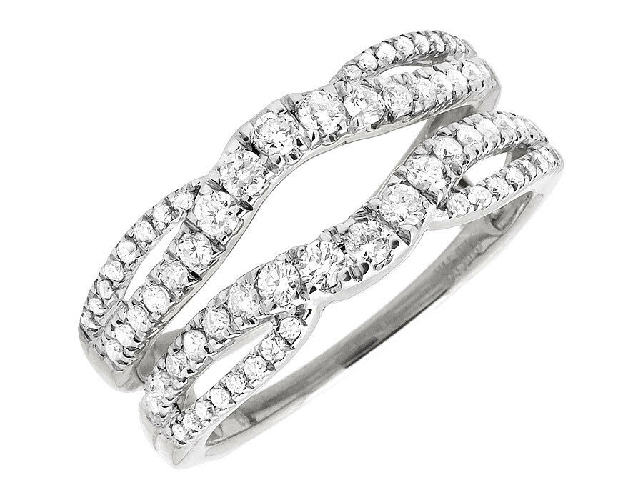 wedding ring jackets 14k white gold solitaire engagement ring enhancer 9964
