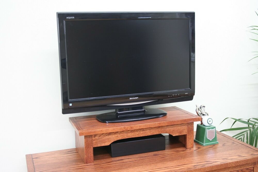 Tv Riser Stand Mission Oak Style With Cherry Finish Choose Finish Ebay