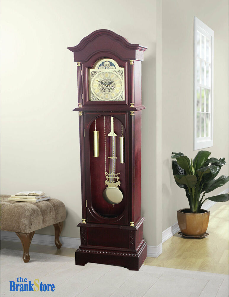 Vintage grandfather clock floor pendulum chimes for Traditional home decor