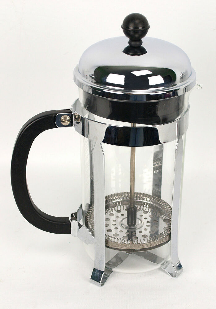 bodum chambord 8 cup french coffee press glass chrome ebay. Black Bedroom Furniture Sets. Home Design Ideas