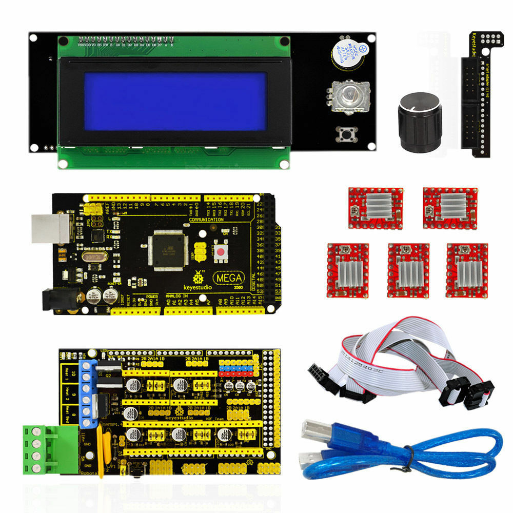 D printer kit for arduino reprap ramps mega a