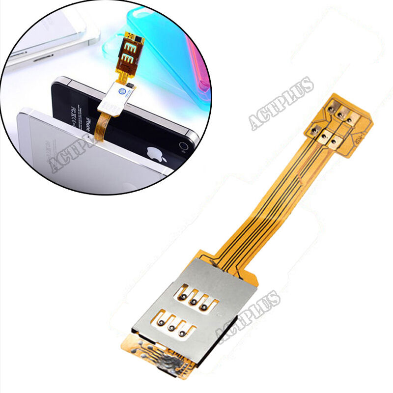 dual sim card adapter single standby flex cable ribbon for iphone 5s 5c 6 new ebay. Black Bedroom Furniture Sets. Home Design Ideas