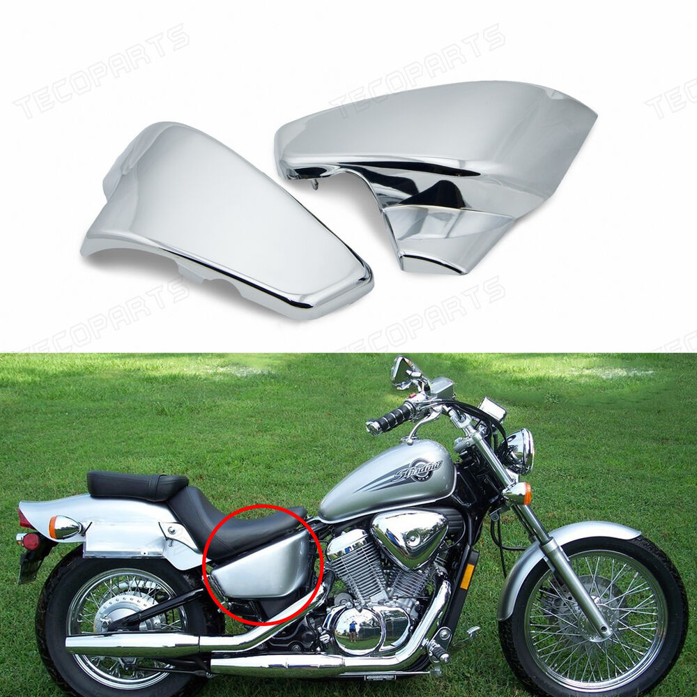 Chrome Battery Side Covers For Honda Shadow Vlx Deluxe