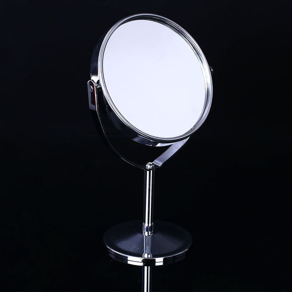 Beauty cosmetic makeup round double side normal magnifying for Mirror stand