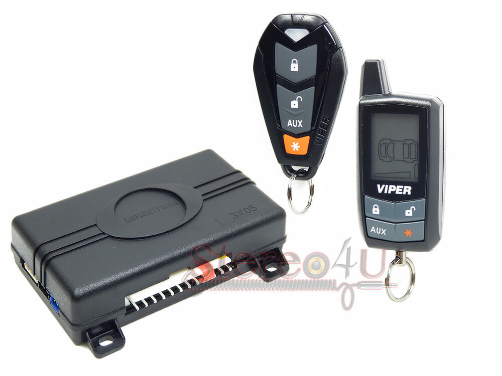 Viper 3305v 2 Way Lcd Pager Complete Car Alarm Keyless