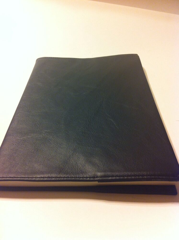 Black Leather Book Cover : Aa and large print black leather book cover ebay