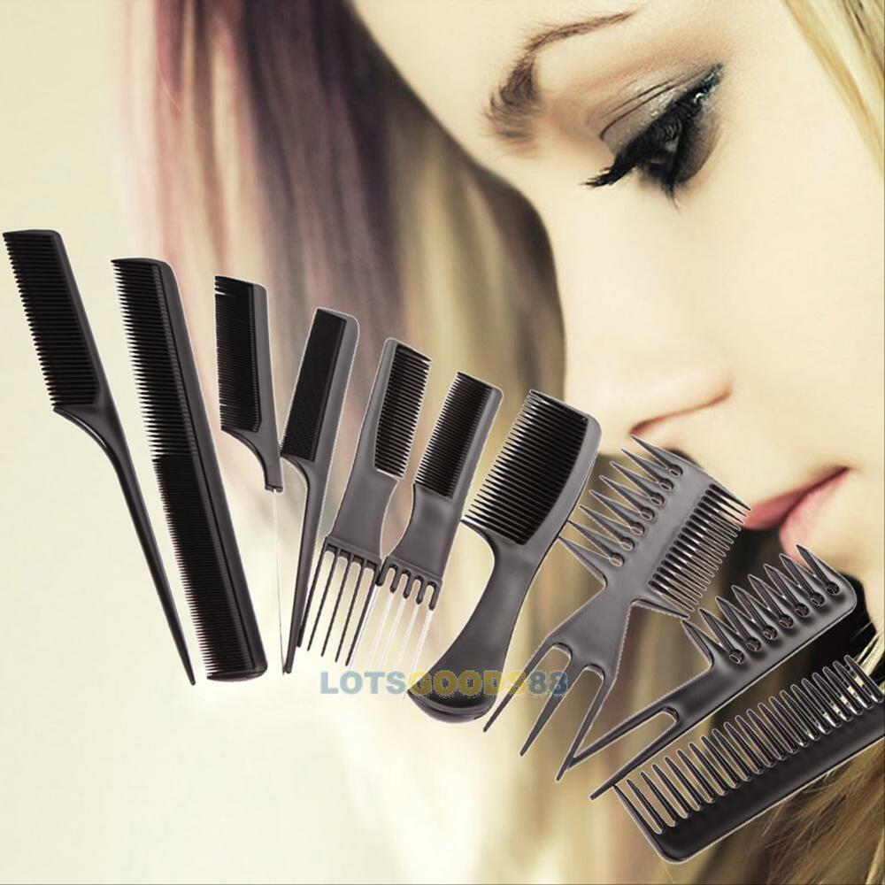 hair styling combs 10pcs hair comb set styling detangling 7677 | s l1000