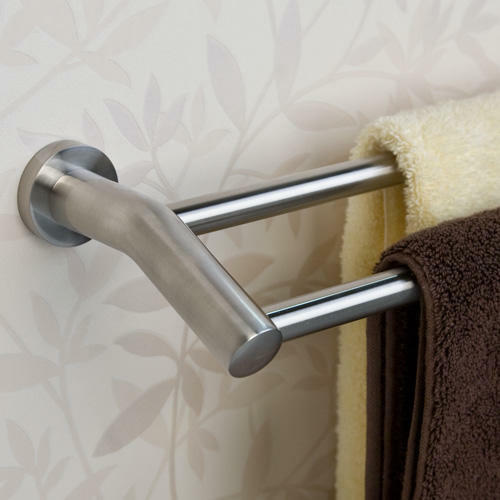 28 ceeley collection double towel bar in brushed nickel ebay
