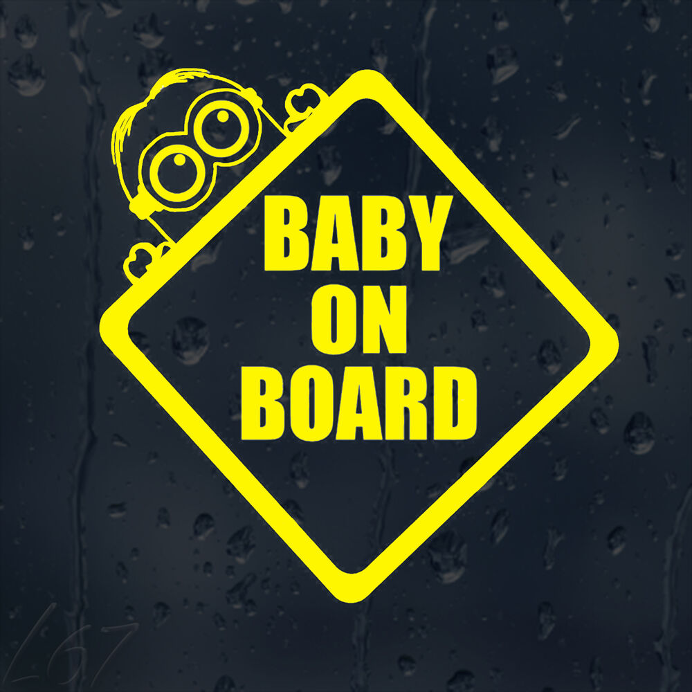 Baby on board minion car decal vinyl sticker for window bumper ebay